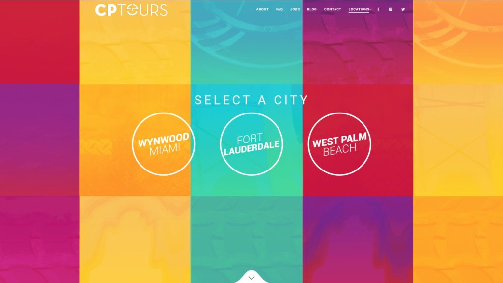Image of the CP Tours website