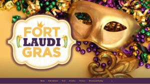 Image of the Fort Laudi Gras website