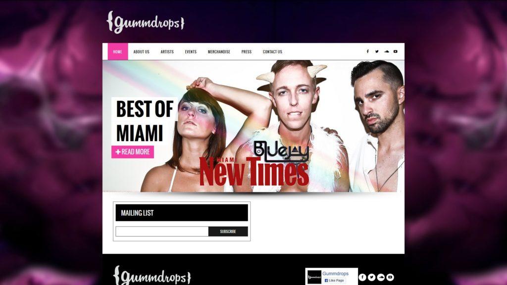Image of the Gummdrops website