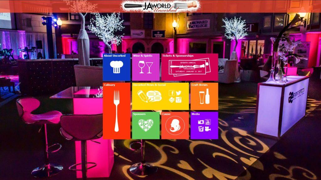 Image of the JA World Uncorked website