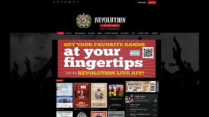 Image of the Revolution Live website