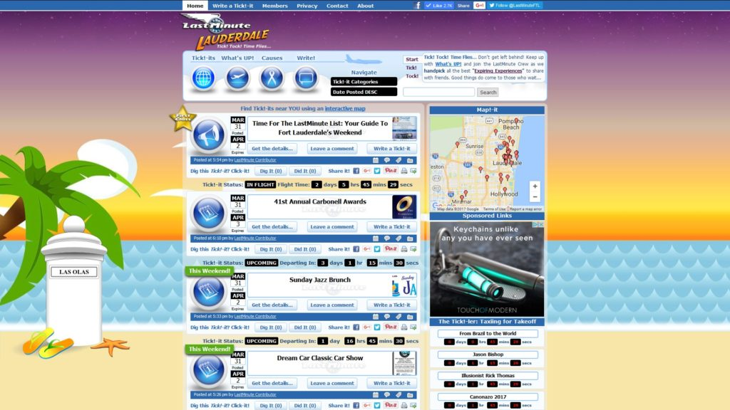 Image of the LastMinute Lauderdale website