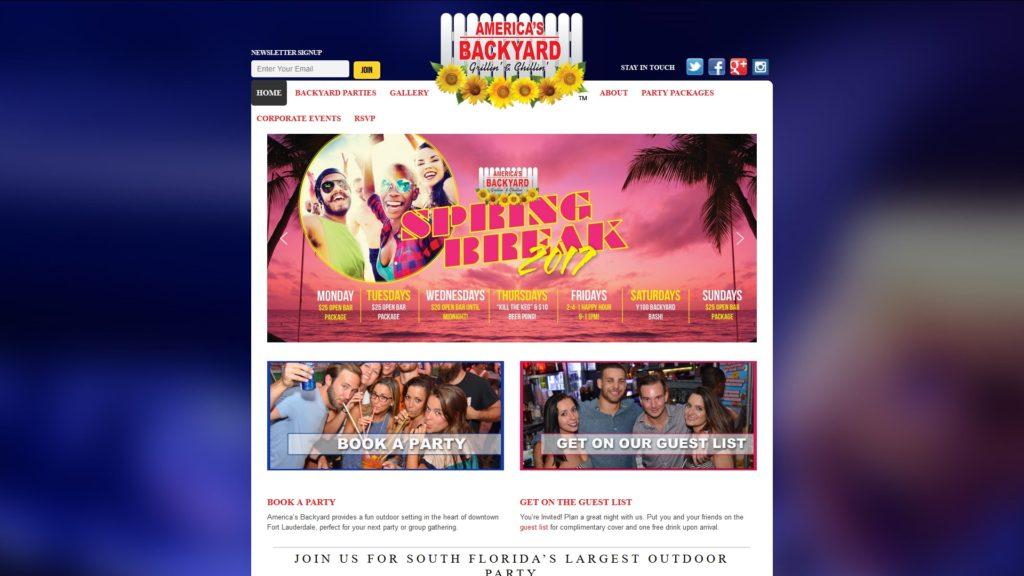 Image of the America's Backyard website