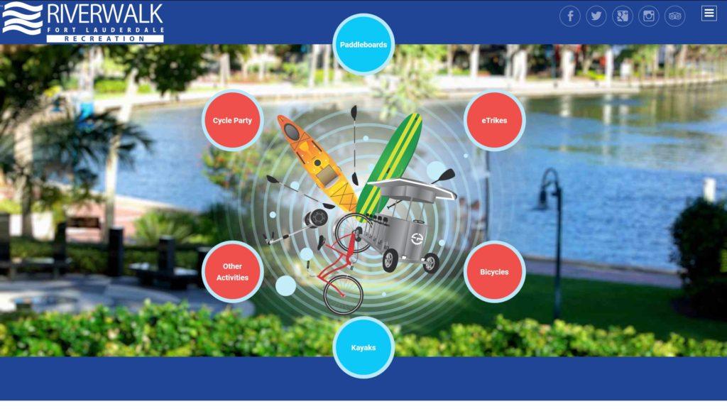Image of the Riverwalk Fort Lauderdale Recreation website