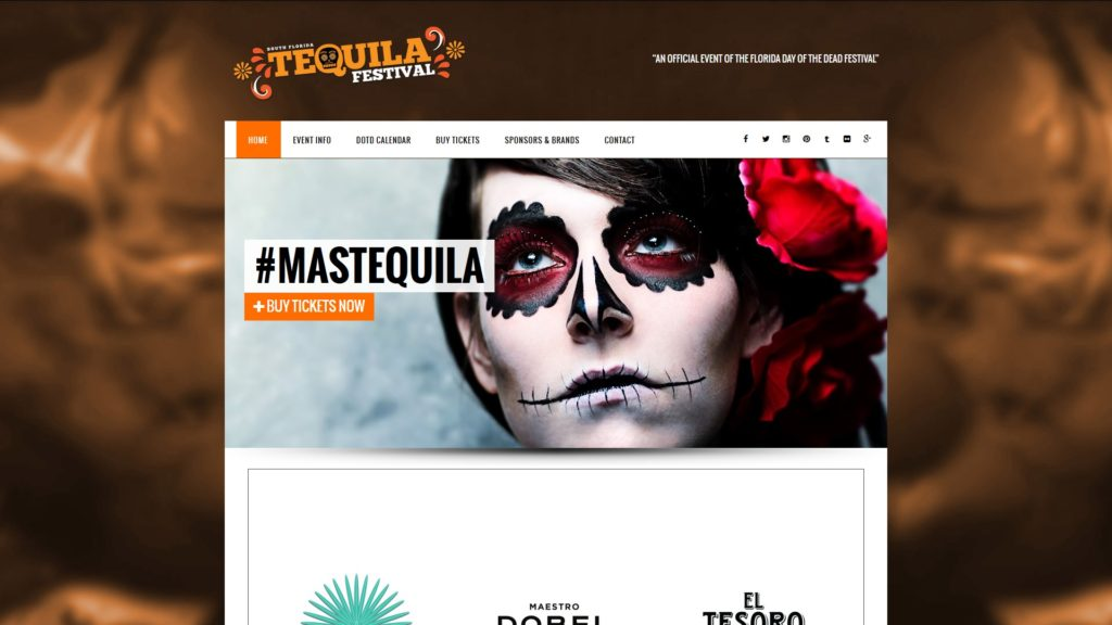 Image of the South Florida Tequila Festival website