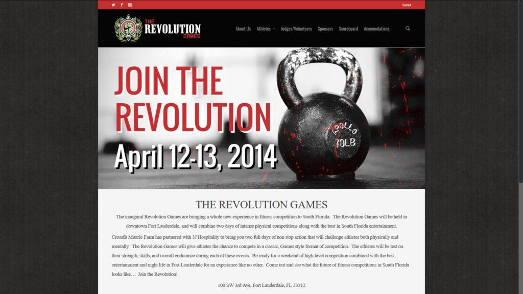 Image of The Revolution Games website