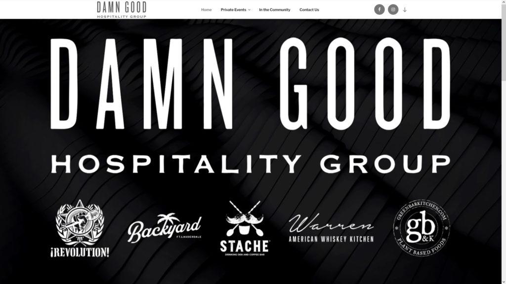 Image of the Damn Good Hospitality website