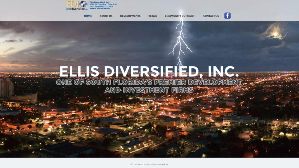 Image of the Ellis Diversified, Inc. website