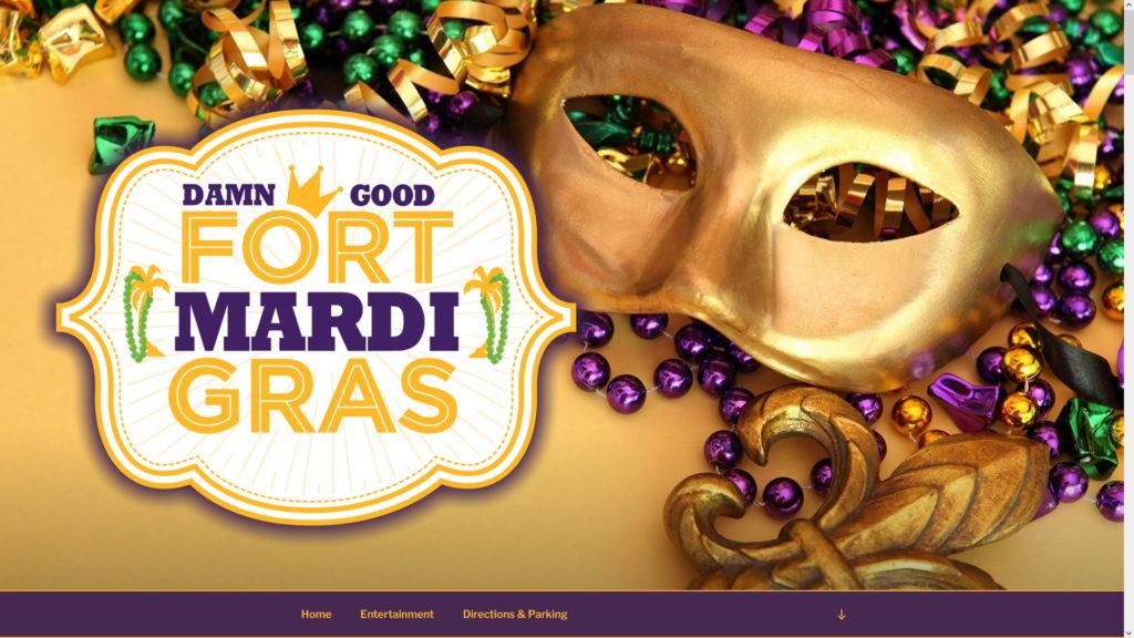 Image of the Fort Mardi Gras website