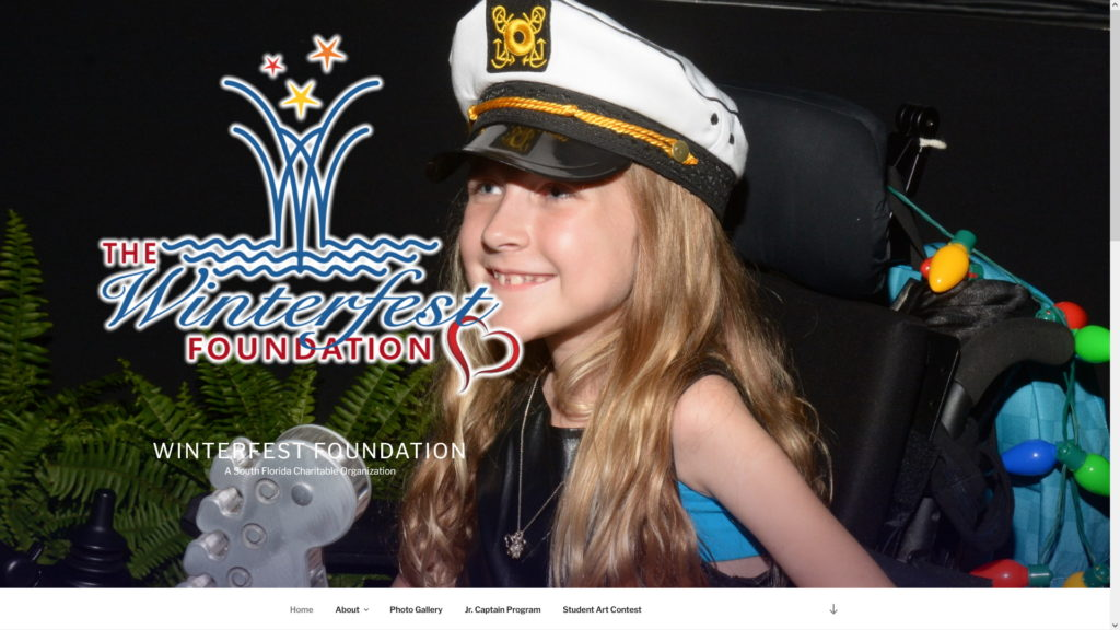 Image of the Winterfest Foundation website
